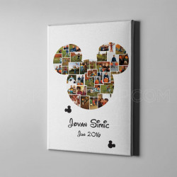 Miki Maus foto kolaž poklon kanvas