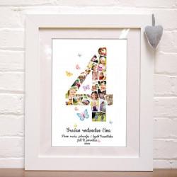 Četvrti rođendan foto kolaž poklon kanvas