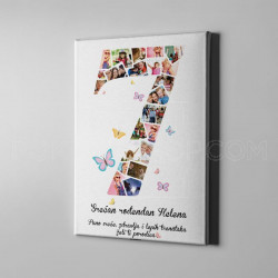 Sedmi rođendan foto kolaž poklon kanvas