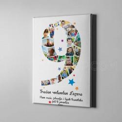 Deveti rođendan foto kolaž poklon kanvas