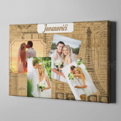 Naše venčanje poklon kolaž od 4 fotografije