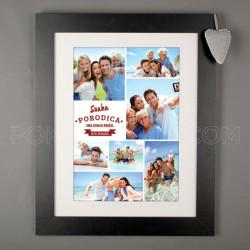 Svaka porodica ima svoju priču poklon kolaž od 7 fotografija