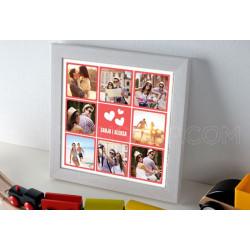 Naša ljubav poklon kolaž od 8 fotografija