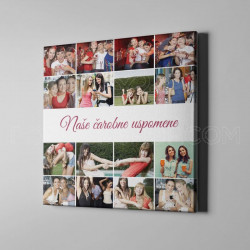 Naše čarobne uspomene poklon kolaž od 16 fotografija
