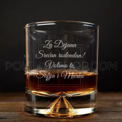 Srećan rođendan poklon čaša za viski