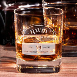 Srpski viski za rođendan poklon čaša za viski