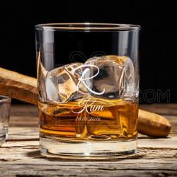 Inicijal kuma poklon čaša za viski