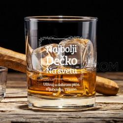 Najbolji dečko na svetu poklon čaša za viski