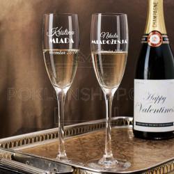 Mlada i mladoženja poklon čaša za šampanjac