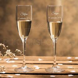 Ime i datum poklon čaša za šampanjac