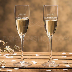 Prva godišnjica poklon čaša za šampanjac