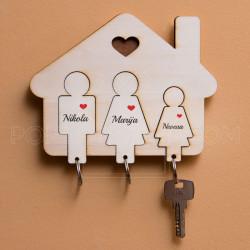 Kućica za troje mamu tatu i ćerku
