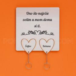 Srca nosač ključeva za zaljubljene
