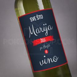 Sve sto zelim je vino poklon vino