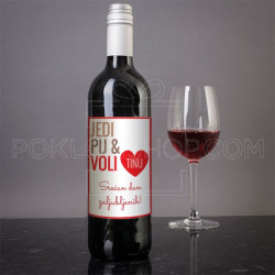 Srećan dan zaljubljenih poklon vino