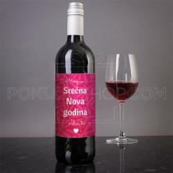 Srecna Nova godina volim te poklon vino