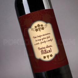 Zelje za slavu poklon vino