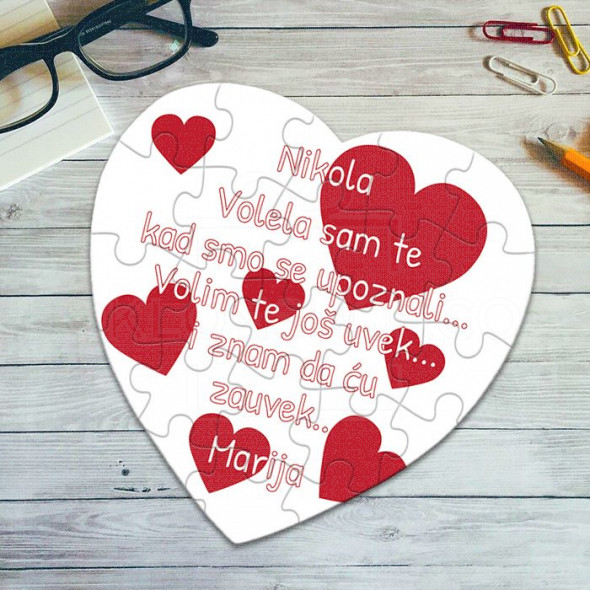 Poklon puzzle srce sa posvetom