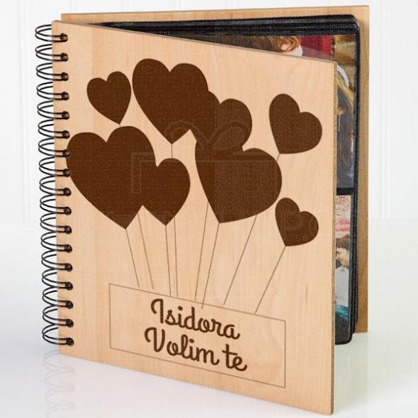 Srce volim te poklon album za slike