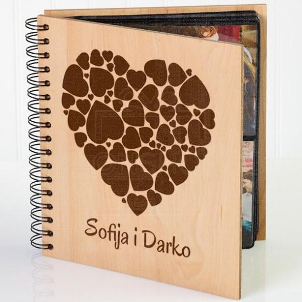 Srca u srcu poklon album za slike