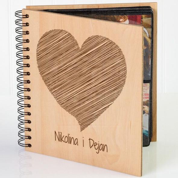 Išarano srce poklon album za slike