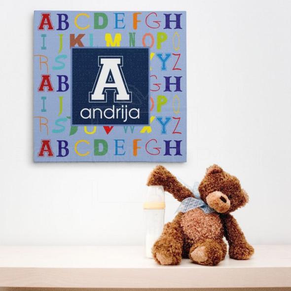 Poklon canvas sa imenom i slovima za dečaka