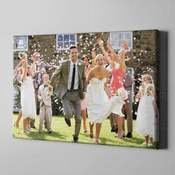 Uspomene sa venčanja Personalizovani poklon na kanvasu