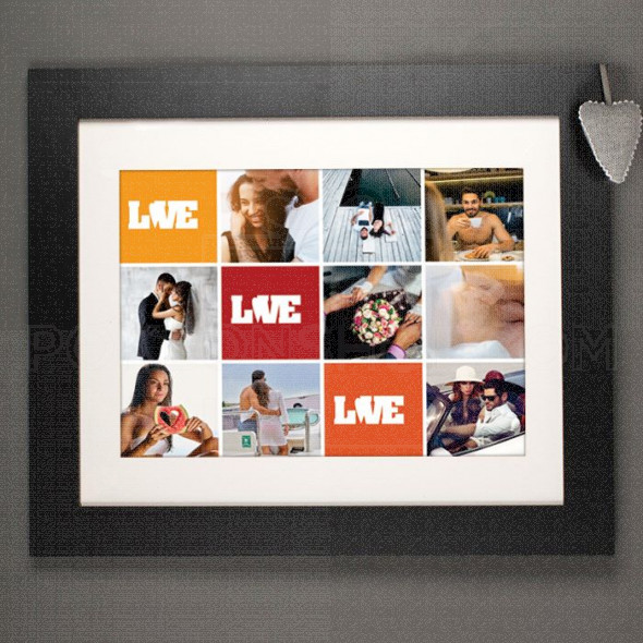 Love foto kolaž poklon na kanvasu