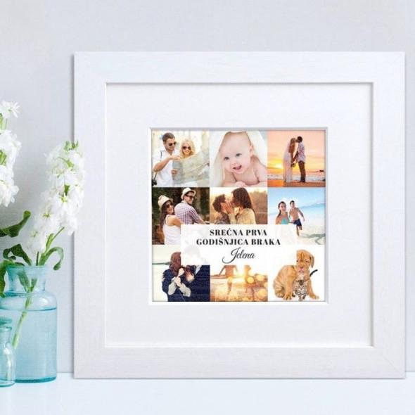 Srećna godišnjica kolaž od 9 fotografija