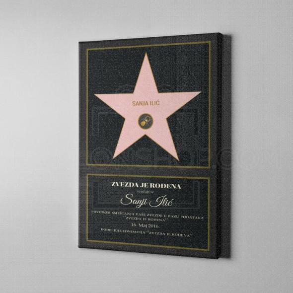 Zvezda je rođena poklon kanvas
