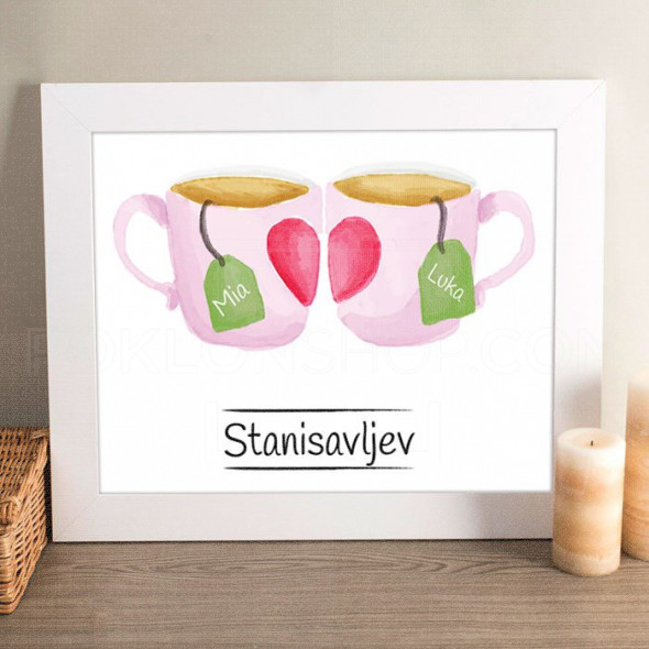 Šolja čaja poklon kanvas
