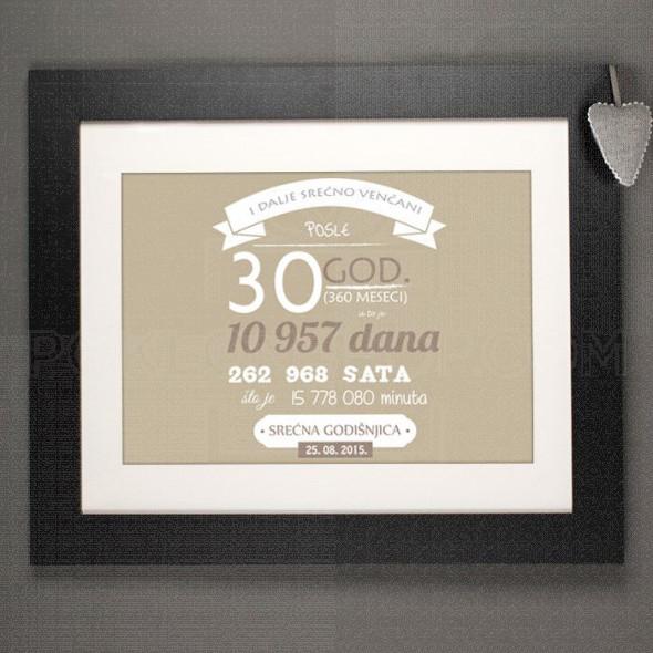 Posle 30 godina braka poklon kanvas