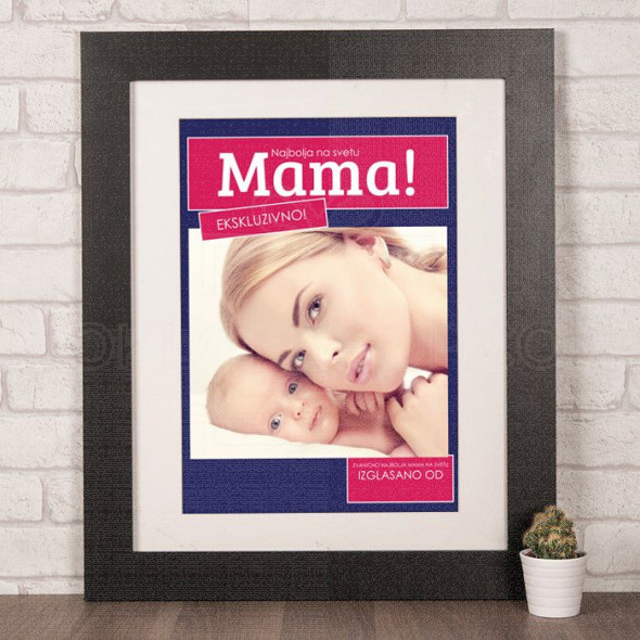 Najbolja mama na svetu poklon poster