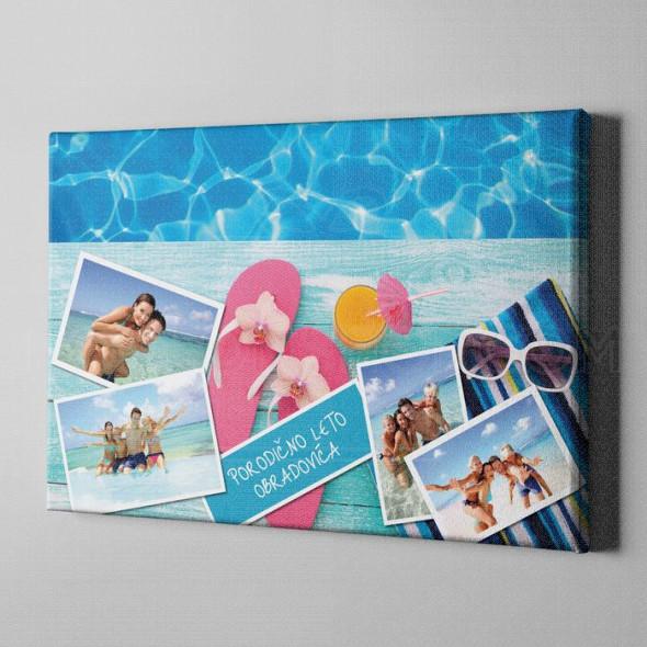 Porodično letovanje poklona kolaž od 4 fotografije