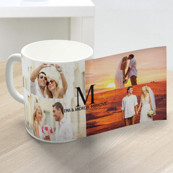 Foto kolaž venčanje poklon šolja