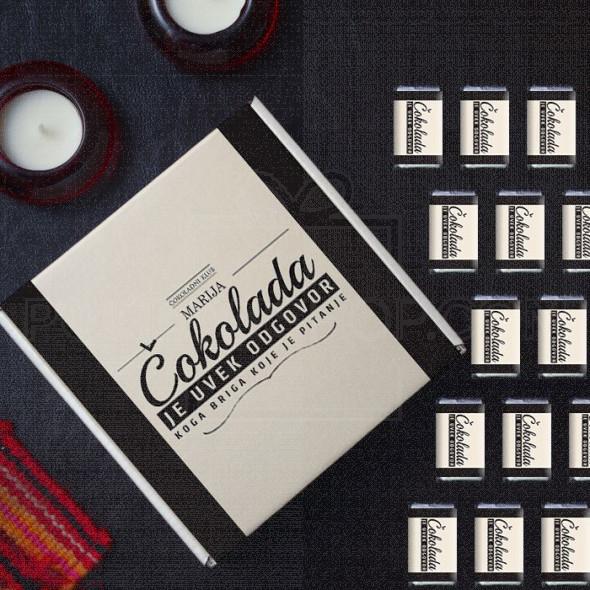 Čokolada je uvek odgovor poklon kutija sa čokoladicama