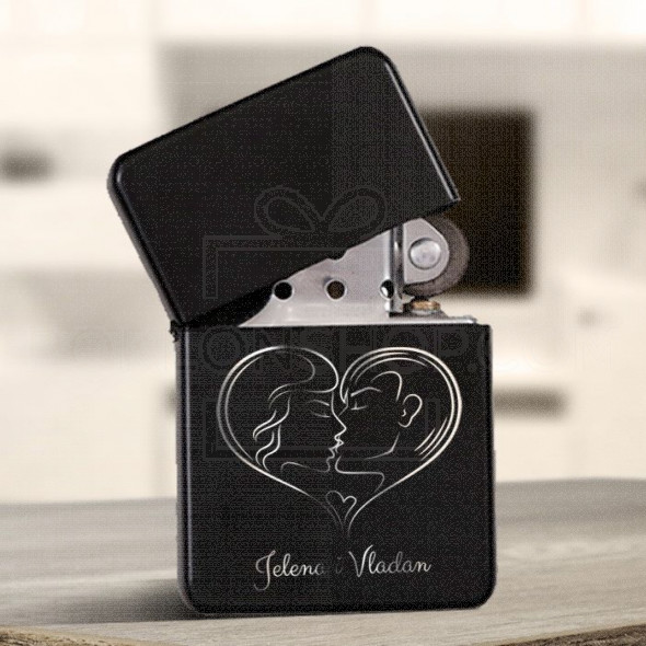 Poklon upaljač poljubac