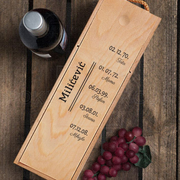 Za porodicu poklon kutija za vino