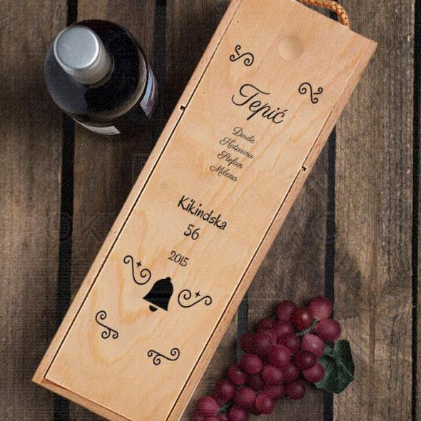 Porodica poklon kutija za vino