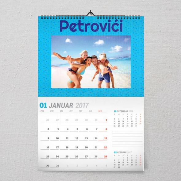 Porodično letovanje poklon kalendar