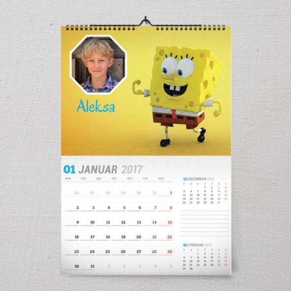Moj Sunđer Bob poklon kalendar za dečaka