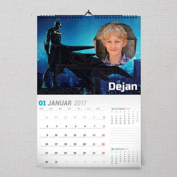Betman poklon kalendar za dečaka