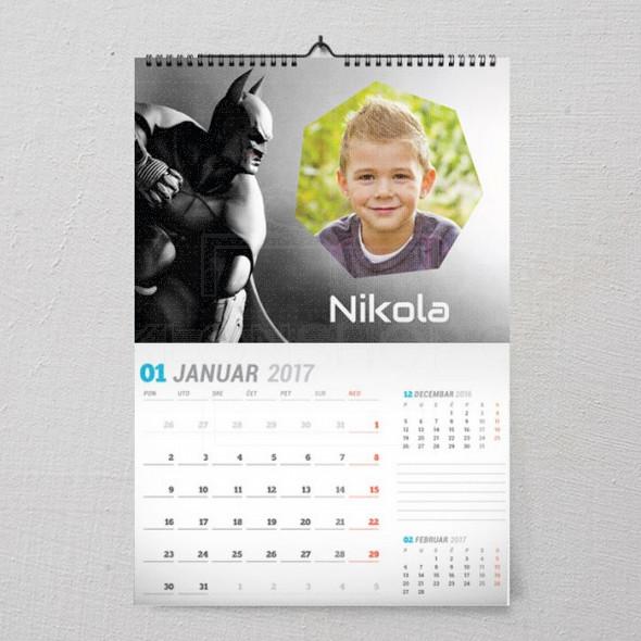 Batman u akciji poklon kalendar