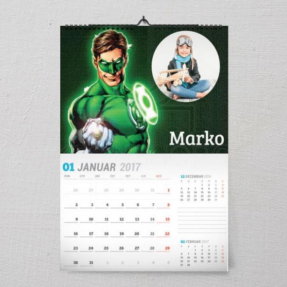Moj heroj poklon kalendar
