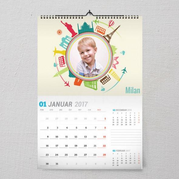 Moja putovanja poklon kalendar