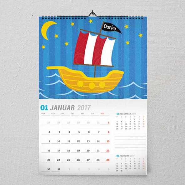 Moj brodić poklon kalendar za dečaka