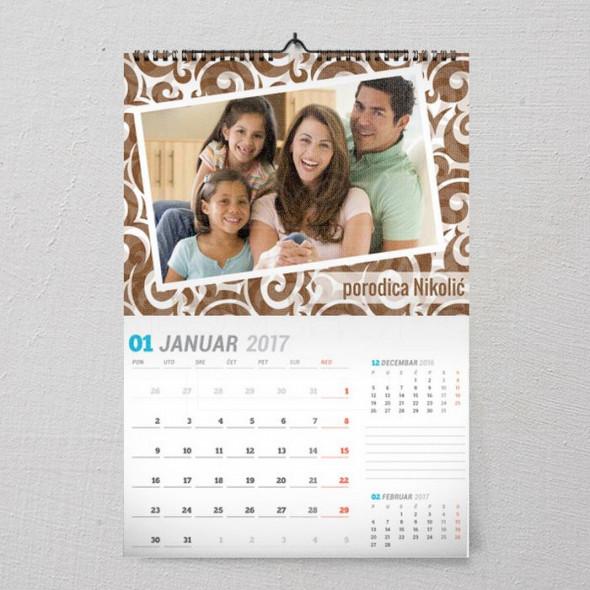 Porodična uspomena poklon kalendar