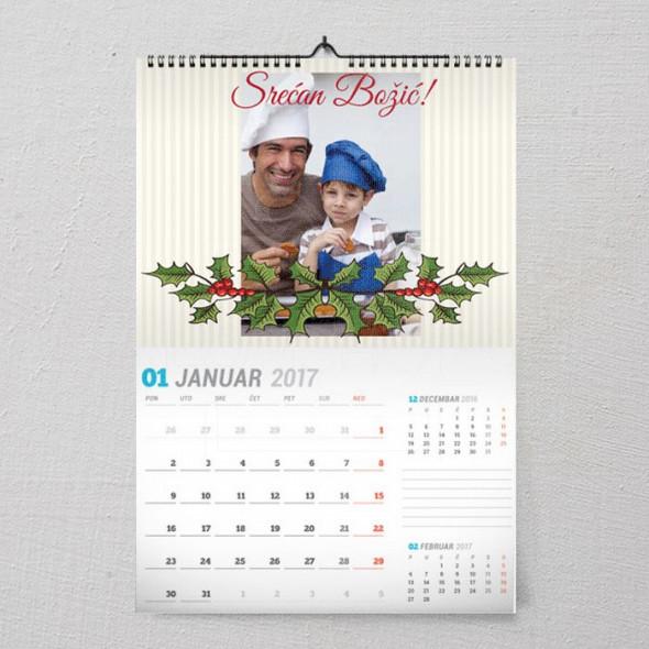 Srećan Božić poklon kalendar