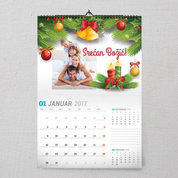 Božićno jutro poklon kalendar