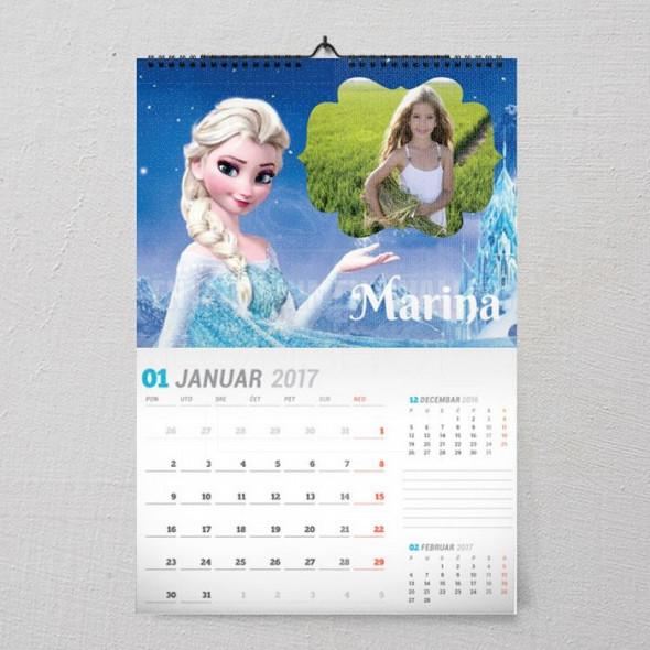 Elsa poklon kalendar za devojčice